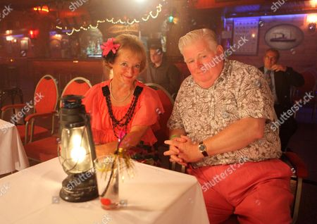 Stock Picture of Janine Duvitski and Kenny Ireland at the Morgan Bar