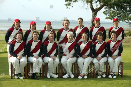 Stock Picture of American team - Juli Inkster, Rosie Jones, Cristie Kerr, Beth Daniel, Meg Mallon, Angela Stanford, Kelli Kuehne, Michele Redman, Laura Diaz, Wendy Ward, Heather Bowie, Kelly Robbins and Patty Sheeman ( captain )