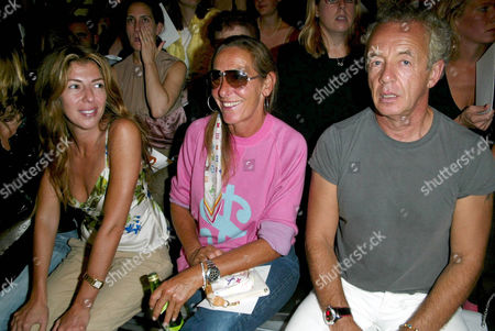 Nina Garcia, guest and Gilles Bensimon in the front row