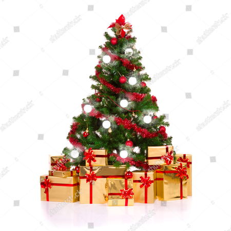 Aura Power Ring Lights On A Christmas Tree
