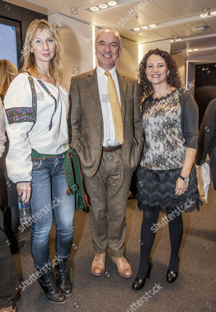 Stock Picture of director Olga Rudnimva with Sir Martin Narey, Francesca Polini of Adopt a Better Way,
