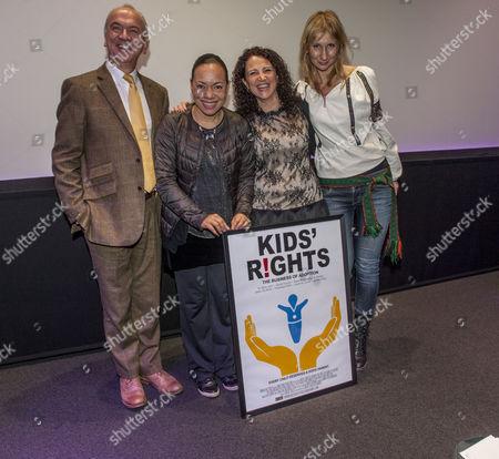 Stock Photo of Sir Martin Narey, baroness Oona King, Francesca Polini of Adopt a Better Way, director Olga Rudnimva