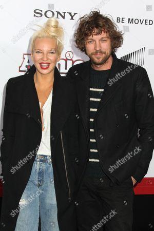Stock Photo of Sia Furler and Erik Anders Lang