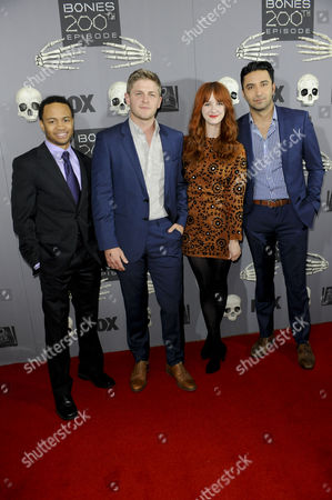 Stock Image of Eugene Byrd, Michael Grant Terry, Laura Spencer and Pej Vahdat