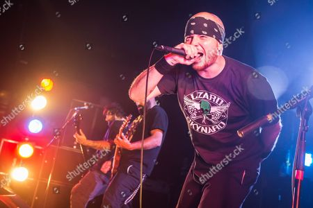 Pwllheli United Kingdom - March 15: Frontman Jamey Jasta Of American Metalcore Group Hatebreed Performing Live On The Dragon Stage At Hammerfest Heavy Metal Festival In Wales On March 15