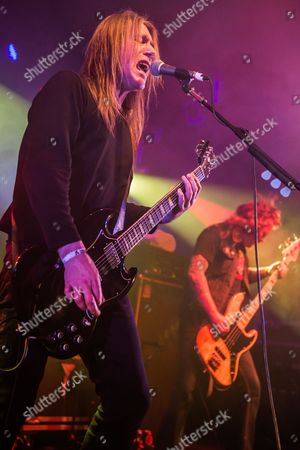 Stock Photo of Pwllheli United Kingdom - March 16: Frontman Kevin Heybourne Of English Heavy Metal Group Angel Witch Performing Live On The Rising Sun Stage At Hammerfest Heavy Metal Festival In Wales On March 16