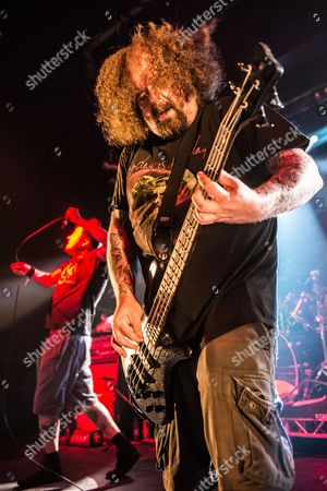 Pwllheli United Kingdom - March 16: Bassist Shane Embury Of English Grindcore Group Napalm Death Performing Live On The Rising Sun Stage At Hammerfest Heavy Metal Festival In Wales On March 16