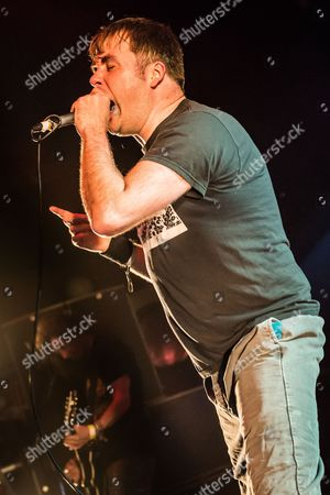 Pwllheli United Kingdom - March 16: Vocalist Barney Greenway Of English Grindcore Group Napalm Death Performing Live On The Rising Sun Stage At Hammerfest Heavy Metal Festival In Wales On March 16
