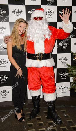 Molly Rainford and Father Christmas