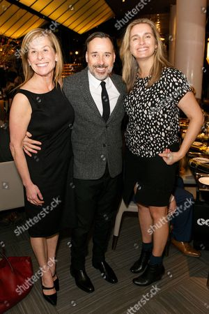 Jo Levin, David Furnish and Sarah Walter