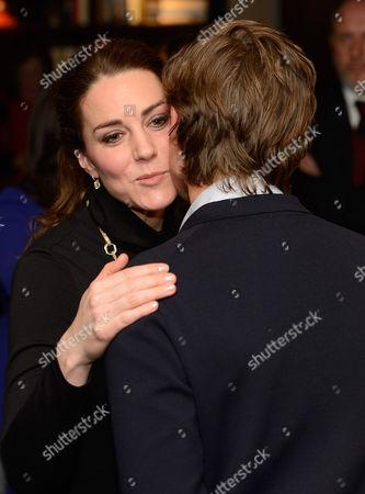 Catherine Duchess of Cambridge meets Alexander Gilkes