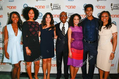 Aja Naomi King, Tracee Ellis Ross, Gina Rodriguez, Cornell William Brooks, Tessa Thompson, Alfred Enoch, and Nischelle Turner