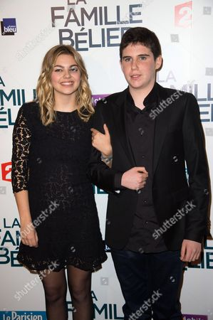 French actors Louane Emera and Luca Gelberg
