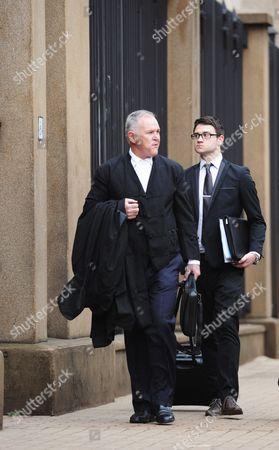 Advocate Barry Roux arrives at the Pretoria High Court