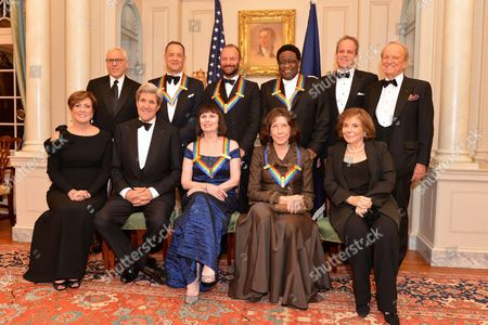 John Kerry and Teresa Heinz Kerry with the 2014 Kennedy Center Honorees -- Al Green, Tom Hanks, Patricia McBride, Sting, and comedienne Lily Tomlin
