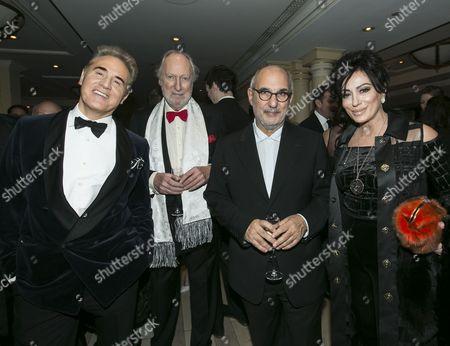 Peter York, Ed Victor, Alan Yentob and Nancy Dell'Olio