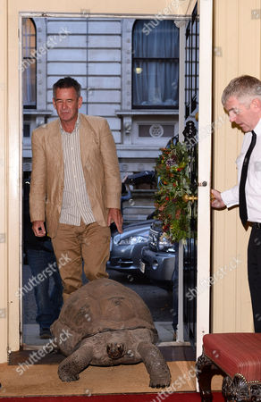 Nigel Marven, who brought along Esmeralda the giant tortoise