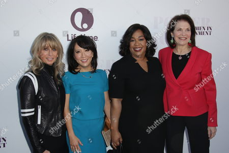 Bonnie Hammer, Janice Min, Shonda Rhimes and Sherry Lansing