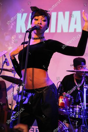 Editorial picture of Karina Pasian in concert at BET Music Matters, New York, America - 09 Dec 2014