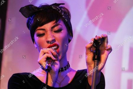 Editorial image of Karina Pasian in concert at BET Music Matters, New York, America - 09 Dec 2014
