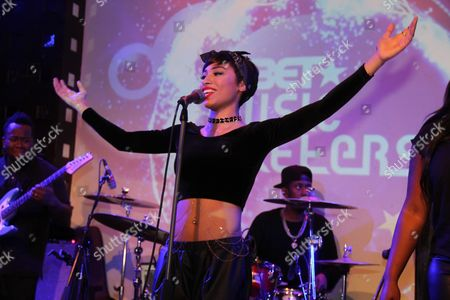 Editorial photo of Karina Pasian in concert at BET Music Matters, New York, America - 09 Dec 2014