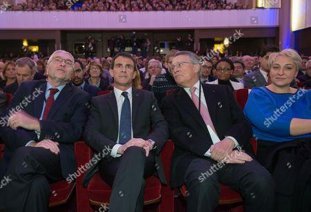 Ernst Stetter, Manuel Valls, Henri Nallet and Pascale Boistard