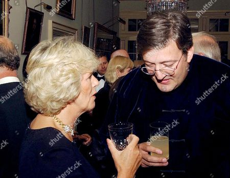 Camilla Parker Bowles with Stephen Fry