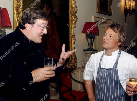 Stephen Fry and Jamie Oliver