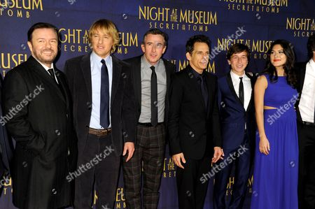 Ricky Gervais, Owen Wilson, Steve Coogan, Ben Stiller, Skyler Gisondo and Mizuo Peck