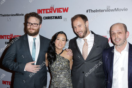 Seth Rogen, Diana Bang, Evan Goldberg and Dan Sterling