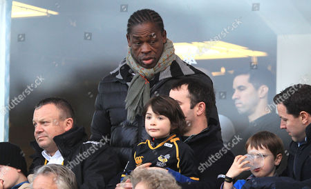 Stock Image of Wasps legend Serge Betsen (Centre) watches their last game at Adam's park