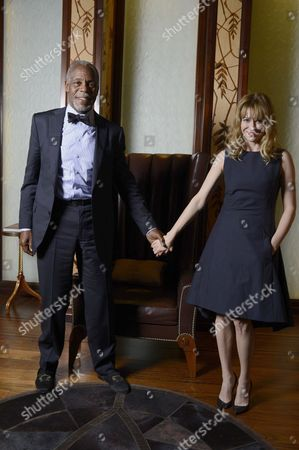 Stock Picture of Danny Glover and Tala Hadid
