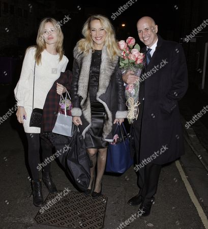Editorial picture of Jerry Hall and family at the Richmond Theatre, London, Britain - 11 Dec 2014