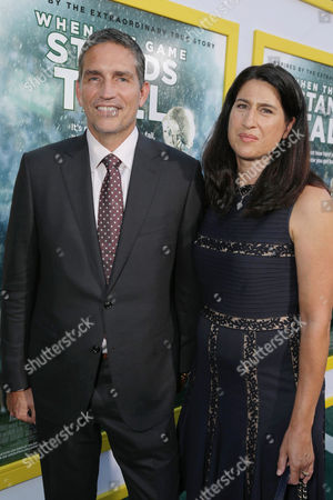 Stock Picture of Jim Caviezel, Kerri Browitt Caviezel