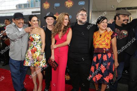 Jorge R. Gutierrez, Sandra Equihua, Ana de la Reguera, Guillermo del Toro, Kate del Castillo, Gustavo Santaolalla, Danny Trejo