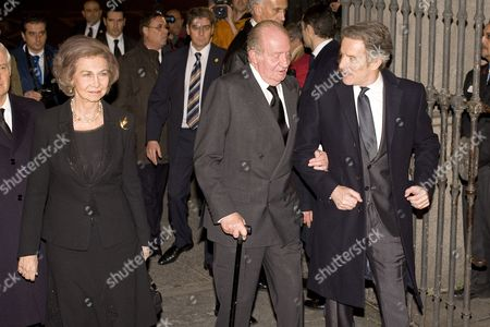 Alfonso Diez, King Juan Carlos and Former Queen Sofia