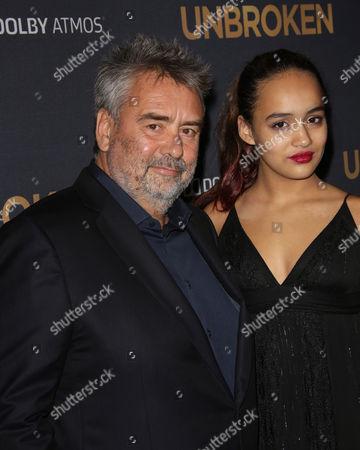 Luc Besson and daughter Talia Besson