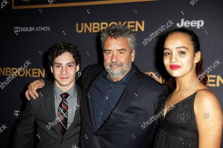 John D'Leo, Luc Besson and daughter Talia Besson
