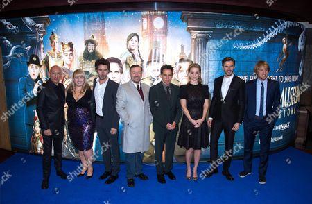 Sir Ben Kingsley, Rebel Wilson, Shawn Levy, Ricky Gervais, Ben Stiller, Alice Eve, Dan Stevens and Owen Wilson