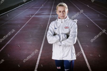 Editorial photo of Jenny Meadows (Athlete) Training, Wigan, Britain - 13 Dec 2014