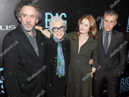 Tim Burton, Margaret Keane, Amy Adams and Christoph Waltz