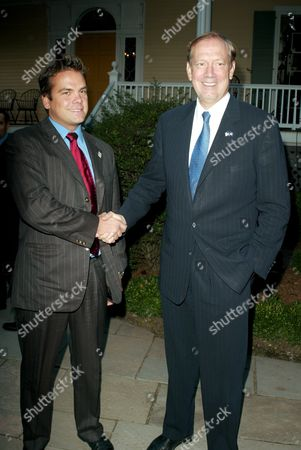 Lachlan Murdoch and Governor George Pataki