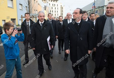Francois Hollande, Patrick Kanner and Frederic Cuvillier