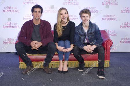 Alex Maruny, Charlotte Vega and Patrick Criado