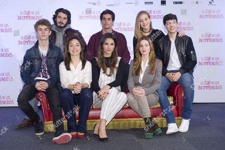 Spanish actors Patrick Criado, Yon Gonzalez, Andrea Trepat, Michelle Calvo, Alex Maruny, Ivana Baquero, Charlotte Vega and Jorge Clemente