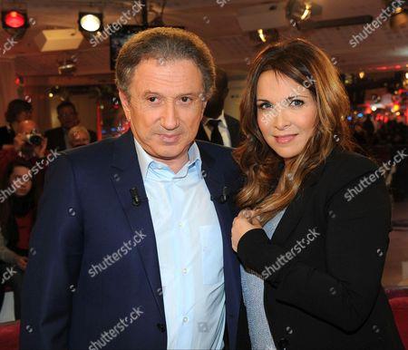 Michel Drucker and Helene Segara