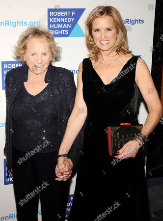 Stock Image of Kerry Kennedy and Ethel Shakel Kennedy