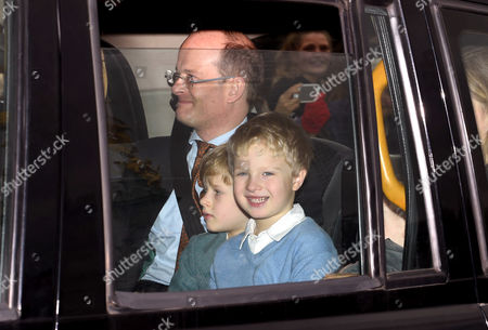 Lord Nicholas Windsor with children Albert Windsor and Leopold Windsor