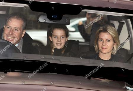 Viscount David Linley, Margarita Armstrong-Jones and Viscountess Serena Linley