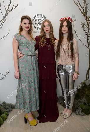 Benedicte Lux, Anouska Beckwith and Flo MorrisseyCB
